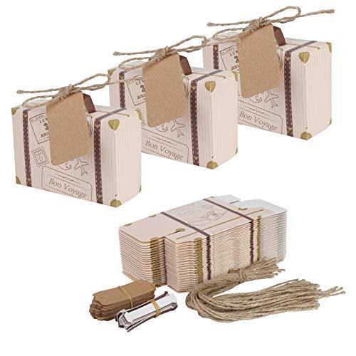 Mini maleta 50 piezas boda Favor caja cordel yute