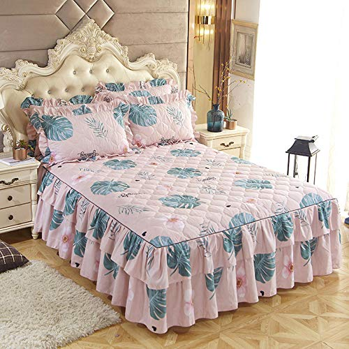 CYYyang Deep Fitted Sheets Microfiber Bed Sheets, Thickened bed skirt lace bed sheet-31_180*220cm