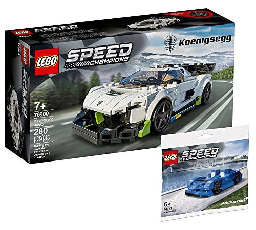 Collectix Juego Lego Speed Champions Koenigsegg Jesko 76900 + Speed Champions McLaren Elva 30343 (bolsa de plástico)