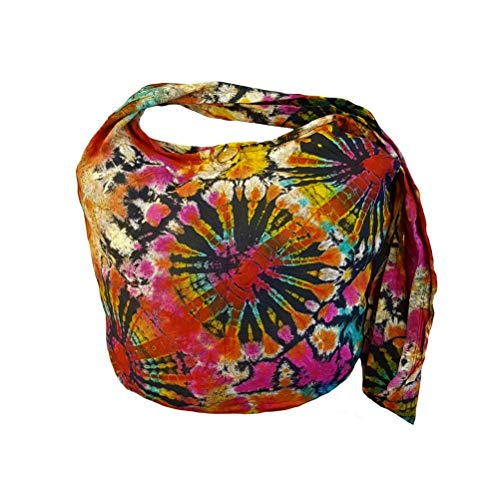 BenThai Products BTP! Tie Dye Sling Crossbody Shoulder Bag Purse Hippie Boho Triple Firework VB2