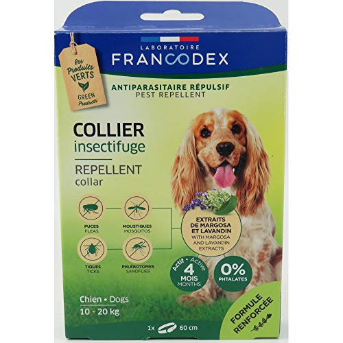 Francodex Collier INSECTIFUGE Chien 10-20 kg
