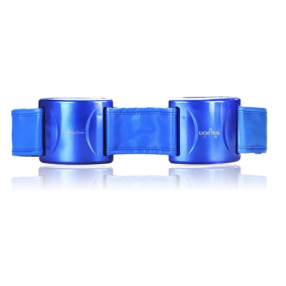 耳天窓半円多機能マッサージ痩身ベルトウエストトレーナーストーブ痩身腹燃焼脂肪体マッサージ機、男性と女性の痛みを軽減する腹部ベルト,Blue