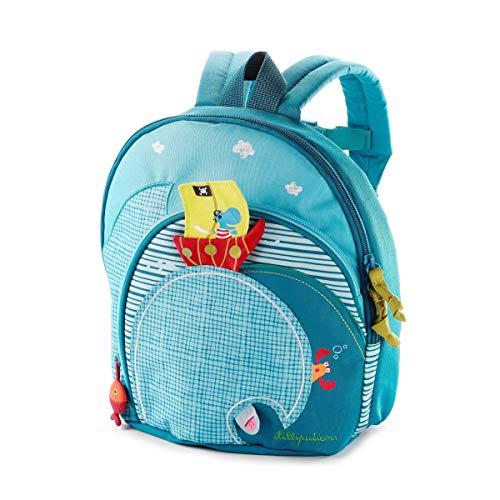 Lilliputiens 86303 Rucksack Kinderrucksack Kindergartentasche in blau, Größe 25x25x13 cm