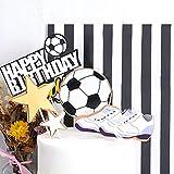 YGSAT 1 juego de decoración para tarta de cumpleaños con diseño de fútbol