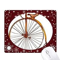 昔ながらの自転車高・ウィーラー・ブリテン オフィス用雪ゴムマウスパッド