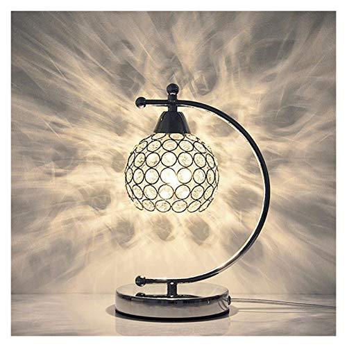 JSJJARF Lámpara de Mesa De Ahorro de energía de Cristal Moderna Tabla de luz LED Lámparas de Mesa Principal Habitación Sala Decoración de Noche Escritorio (Lampshade Color : B)