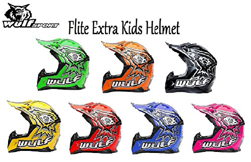 5cm 3-4Yrs Stratos Gloves XXXS + Cub Abstract Goggles 47-48cm Kids Camo Suit XS Wulf Wulfsport Kids Flite Motocross Helmet Blue