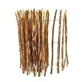 BooGardi Kastanienzaun in 28 Größen · Staketenzaun 80 x 500 cm (Lattenabstand 7-9 cm) aus Haselnuss · Rustikaler Gartenzaun als Rolle mit gespaltenen Staketen