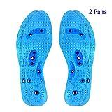 2 Paar Transparente Magnetische Orthopädische Einlegesohlen desodorierende Sweatproof bequeme Massage