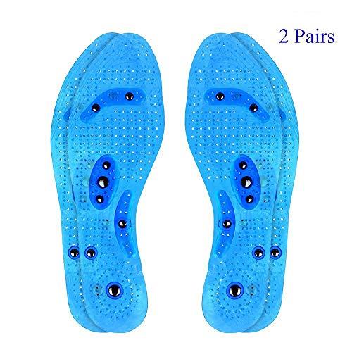 2 Paar Transparente Magnetische Orthopädische Einlegesohlen desodorierende Sweatproof bequeme Massage Einlegesohlen Euphoric Feet Akupressur Einlegesohlen...