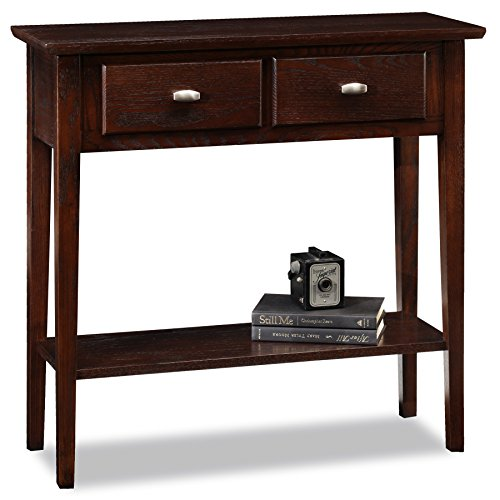 oak console tables for entryway - 9