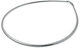 Sterling Silver Omega Chain 3mm Solid 925 Italy New Necklace