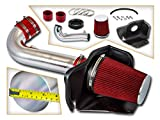 Cold Air Intake System with Heat Shield Kit + Filter Combo RED Compatible For 11-19 Dodge Durango 5.7L V8 / 2011-2019 Jeep Grand Cherokee 5.7L V8