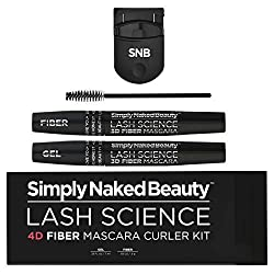 professional Simply Naked Beauty 4D Fiber Mascara Curler Kit. 10 times the volume and length of nature …