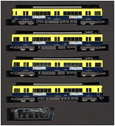 Spur N 4764 Kintetsu 5200 System-Update Auto Kintetsu Bereich Kampagne 4-Wagen-Zug-Set (mit Strom) (lackiert PVC)