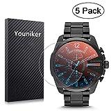 Youniker - Pellicola protettiva per orologio da uomo Diesel DZ4318,trasparenza ad alta definizione, antigraffio, anti-impronte, senza bolle, confezione da 5
