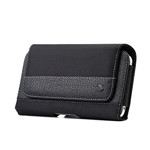 Simple Phone Holster Holder Purse Cover with Elastic Side and Belt Loops for Motorola G20, G60, G40 Fusion, Moto G100, G50, G10 Power