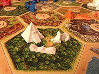 Settlers of Catan Compatible Replacement Board Game Pieces - Egyptian Empire - Single Player - White [並行輸入品]
