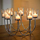 KIU Tea Light Glass Candelabro Boda Navidad Mesa Centro de Mesa Decoración