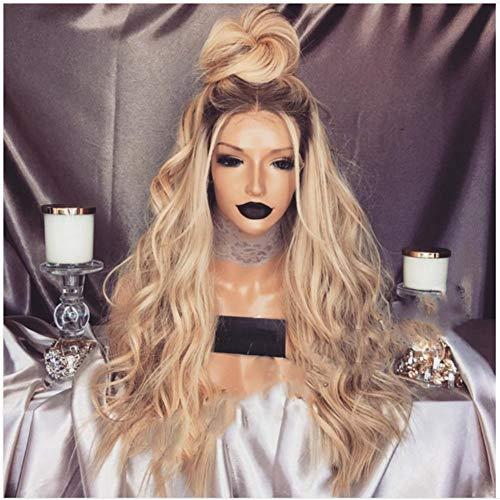HAIRCARE Perruque De Dentelle Avant,Lady Femmes Or Cheveux Synthétiques Longues Perruques Vague Short Curly Hair Wigs Gradient Big Wave