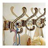 Perchero de Pared Perchas montadas en la pared, usadas para colgar ropa gorras toallas llaves de la capa de metal de estilo retro de estilo europeo, se puede utilizar en el pasillo de la sala de estar