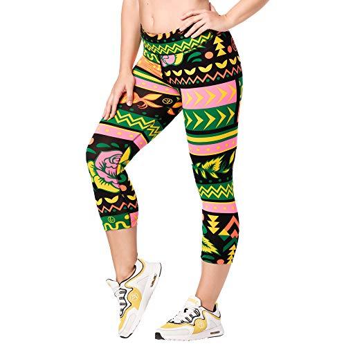 Zumba Dance Capri Leggings Estampados Fitness Entrenamiento Mallas de Deporte de Mujer, Groovin