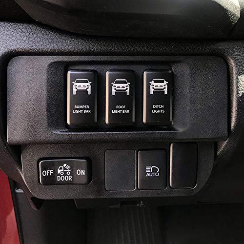 CH4X4 Push Switch for Toyota Tacoma 3rd Gen Blue LED Led Light Bar Symbol 2