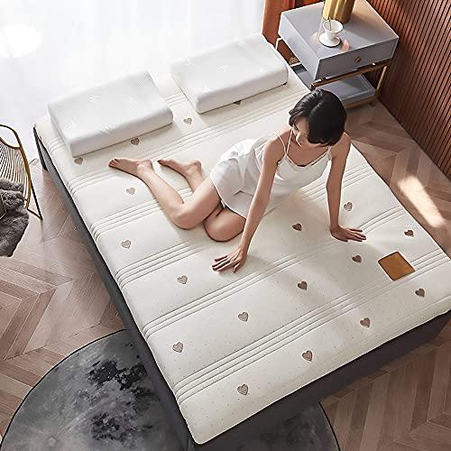 N/Z Equipo para el hogar Colchón de Espuma viscoelástica colchón de látex Grueso colchón Doble Individual colchón Tatami Ropa de Cama Plegable 6cm 150x200cm