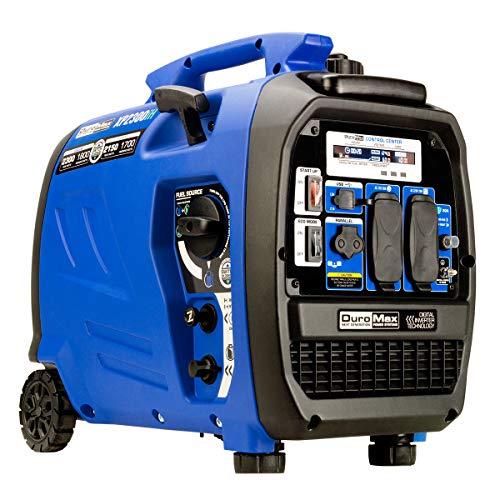 2300-Watt 80cc Dual Fuel Digital Inverter Hybrid Portable Generator, Blue - DuroMax XP2300iH