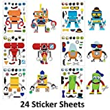 Make A Sticker Sheets (4.5 x 6.5 inches) - Great for Kid's Stocking Stuffers, Easter Basket...