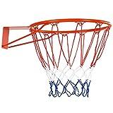 Goplus Basketball Rim Net Basketball Hoop Wall Door Mounted Indoor Outdoor Hanging 18'