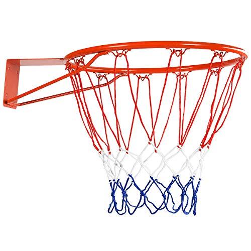 """Goplus Basketball Rim Net Basketball Hoop Wall Door Mounted Indoor Outdoor Hanging 18"""""""
