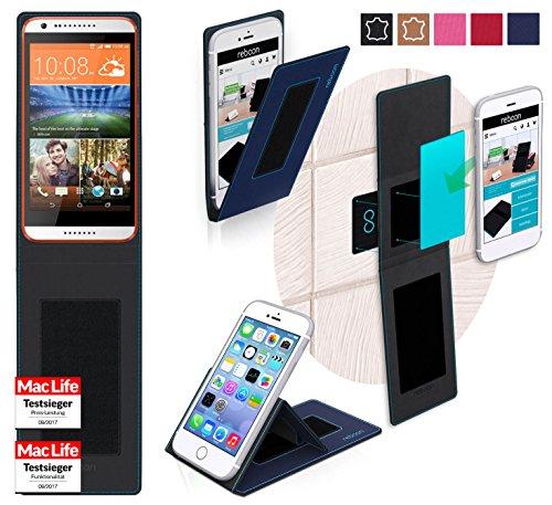 Hülle für HTC Desire 620 Tasche Cover Hülle Bumper   Blau   Testsieger