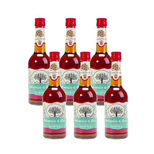 OFFERTA 6 Confezioni di Villa Lanfranca Aceto balsamico di mele invecchiato in barrique, 500 ml