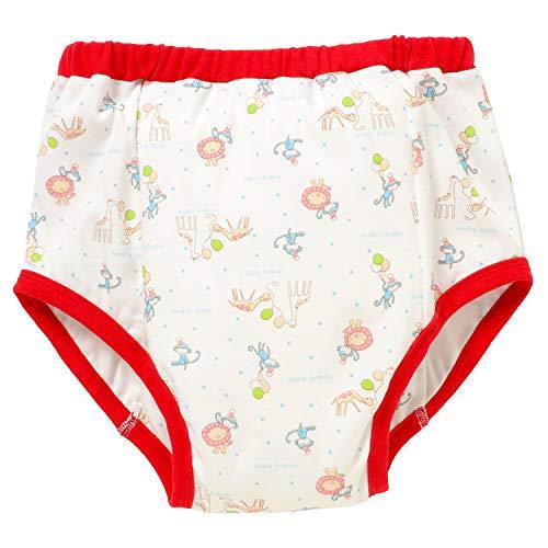 [ママミッケ] リハビリパンツ メンズ 大人用 下着 かわいい 綿100% 日本製 肌着 通気 柔らかい 吸湿 快適 防水機能なし (らいおん、おさる, M)