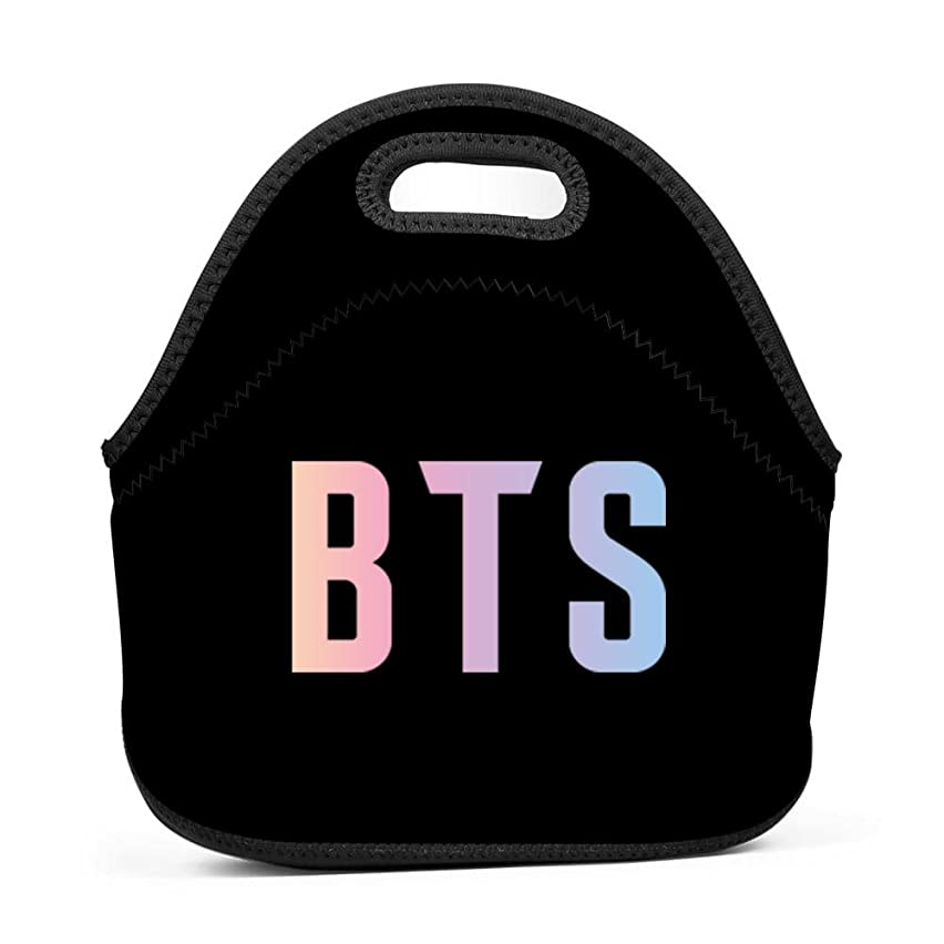 Ikon-eei Unique BTS 3D Printing Reusable Portable Multifunction Lunch Bags/Picnic Bag with Zip & Handle