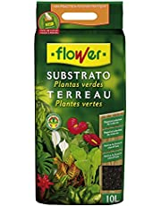 Flower 80060 Substrato Planta Verde, 10L, Marrón, 28x4x45 cm