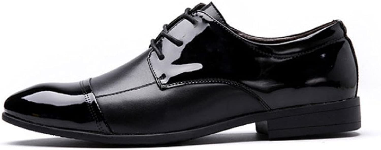 LEDLFIE Men's Leather shoes Fashion Casual Laceup Wedding shoes