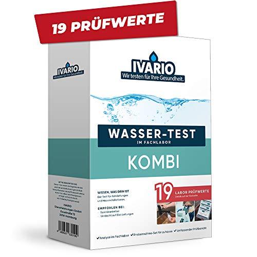 Labor-Wassertest Kombi (19-in-1) für Trinkwasser, Experten Wasseranalyse im Deutschen Fachlabor. Leitungswasser-Test mit 19 Prüfwerten