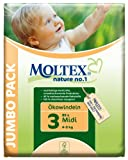 Moltex - Nature - Pañales ecológicos - Talla 3 (4-9 kg) - 80 pañales