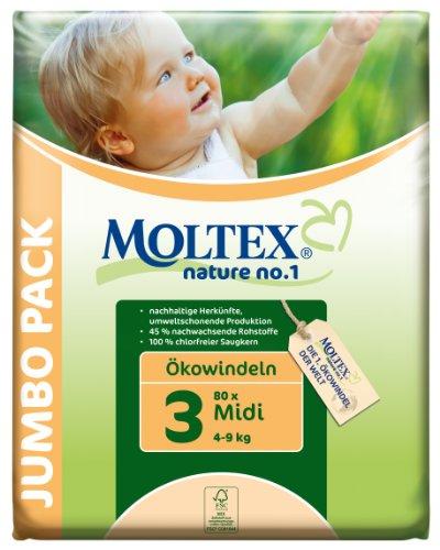 Moltex Nature No1 Ökowindeln Midi Size 3 (4-9 kg) (80 Stück)