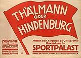 Poster, Deutsch Zwischenkriegs Kommunistischen ANLÄBLICH DES 1 KONGRESSES DER ROTEN FAHNE. BERLIN c1919-32, Vintage, A3, 250 g/qm, glänzend