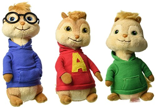Ty Beanie Babies Alvin & The Chipmunks Alvin, Theodore & Simon Set of 3