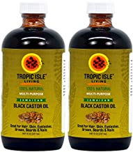 Tropic Isle Living Jamaican Black Castor Oil 8oz (Pack of 2)
