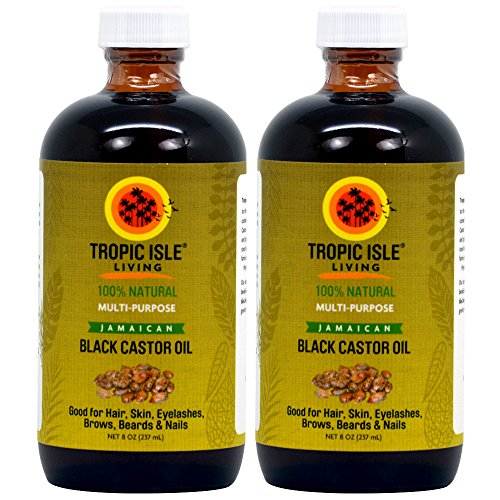 Tropic Isle Living Jamaican Black Castor Oil, 8 oz by Tropic Isle Living