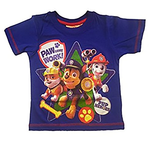 PAW PATROL Jungen T-Shirt Blau hellblau 8 Jahre