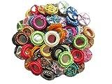 YYCRAFT 64 pcs Gypsy Crochet Shisha Miroirs pour Applique Couture/Scrapbooking/Loisirs Créatifs(Multicolore)