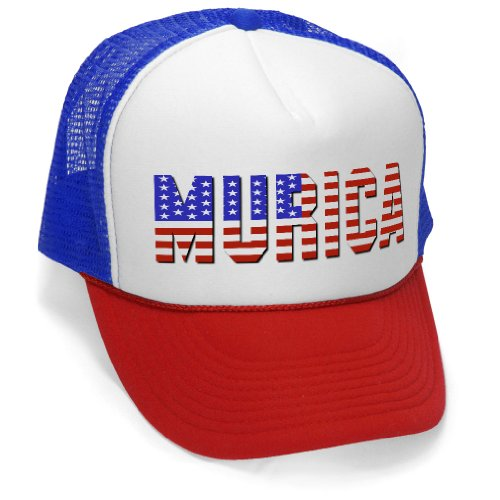 Murica Fourth of July USA - 4th America Patriot Mesh Trucker Cap Hat Cap, RWB