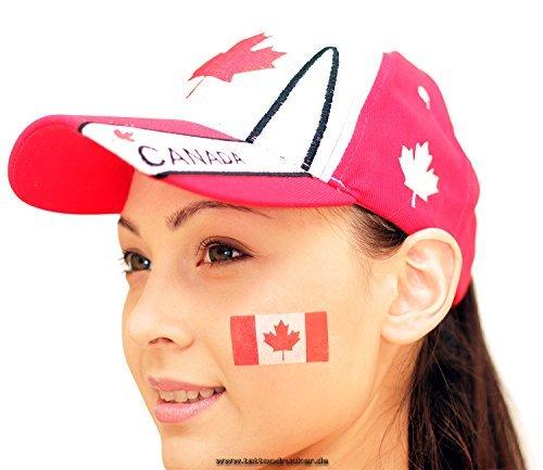 25 x Kanada Tattoo Fan Fahnen Set - Canada temporary tattoo Flag (25)