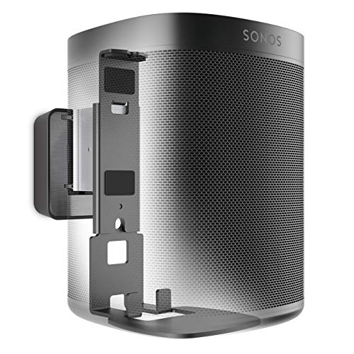 Vogel's Sound 4201 Negro, Soporte de Pared para Sonos One & Play:1